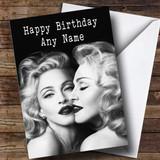 Customised Madonna Celebrity Birthday Card