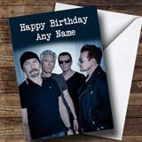 Customised U2 Celebrity Birthday Card