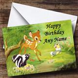 Bambi Customised Birthday Card