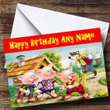 Little Pigs Customised Birthday Card