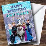 Frozen Characters Elsa Anna Hans Kristoff Olaf Sven Customised Birthday Card