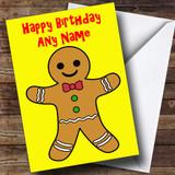 Gingerbread Man Customised Birthday Card
