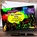 Paintball Laser Tag Customised Birthday Party Invitations