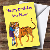 The Tiger Who Came To Tea Customised Children's Birthday Card