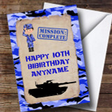 Blue Camo Boy Children's Birthday Customised Card