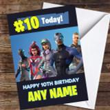 Fortnite Game Battlepass Skins Any Age Customised Children's Birthday Card