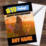 Fortnite Game Save The World Ninja Customised Children's Birthday Card