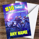 Fortnite Game Save The World Skins Any Age Customised Children's Birthday Card
