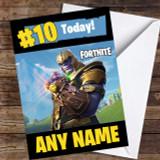 Fortnite Thanos Customised Children's Birthday Card
