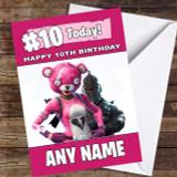 Girls Cuddle Leader Black Knight Fortnite Customised Children's Birthday Card