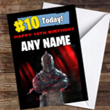 Fortnite Black Knight Any Age Kids Customised Children's Birthday Card