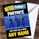 Fortnite Dances Floss Like A Boss Customised Children's Birthday Card