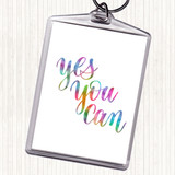Yes You Can Rainbow Quote Keyring