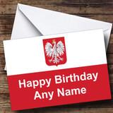 Polish Flag Poland Customised Birthday Card