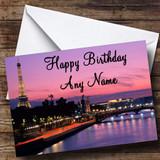 Paris France Customised Birthday Card