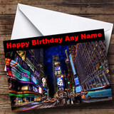 New York Times Square Customised Birthday Card