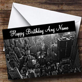 New York America Usa Customised Birthday Card