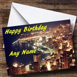 Monaco At Night Customised Birthday Card