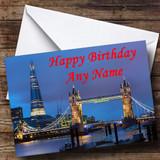 London Tower Bridge The Shard Customised Birthday Card