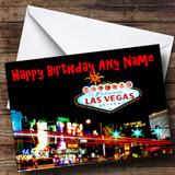 Las Vegas America Customised Birthday Card