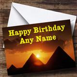 Egypt Pyramids Customised Birthday Card
