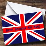British Flag Union Jack Customised Birthday Card