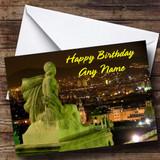 Barcelona Spain Customised Birthday Card