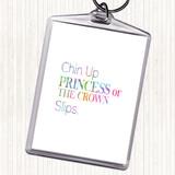 Chin Up Rainbow Quote Keyring