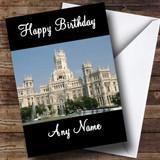 Madrid Spain Customised Birthday Card