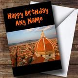 Florence Italy Customised Birthday Card