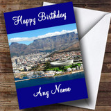 Cape Town South Africa Customised Birthday Card