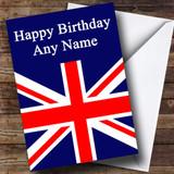Union Jack British Flag Customised Birthday Card