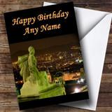 Spain Barcelona Customised Birthday Card