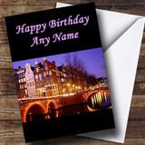 Amsterdam Customised Birthday Card