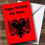 Albanian Flag Albania Customised Birthday Card