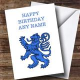 Blue Scottish Lion Customised Birthday Card