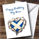 Scottish Heart Customised Birthday Card