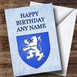 Scottish Lion Customised Birthday Card