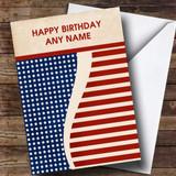 Vintage USA Flag Customised Birthday Card