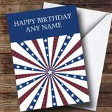 White Stars & Stripes Customised Birthday Card
