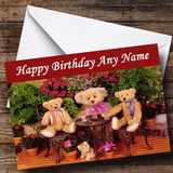Teddy Bears Picnic Customised Birthday Card