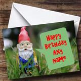 Garden Gnome Customised Birthday Card
