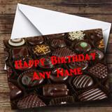 Chocolate Selection Customised Birthday Card