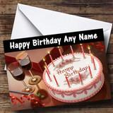 Cake And Wine Customised Birthday Card