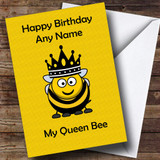 Funny Queen Bee Customised Birthday Card