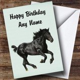 Stunning Black Horse Customised Birthday Card