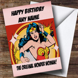 Original Wonder Woman Customised Birthday Card