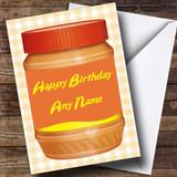 Peanut Butter Customised Birthday Card
