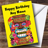Tropical Hawaiian Luau Customised Birthday Card