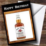Jim Beam Whiskey Customised Birthday Card